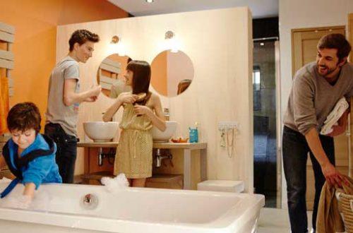 salle de bain toute famille