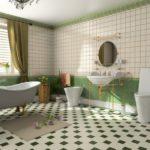 Conception d'une salle de bain rétro