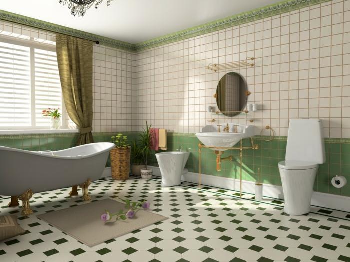 conception salle bain retro